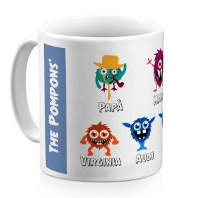 Mug personalizzato My Monster Family