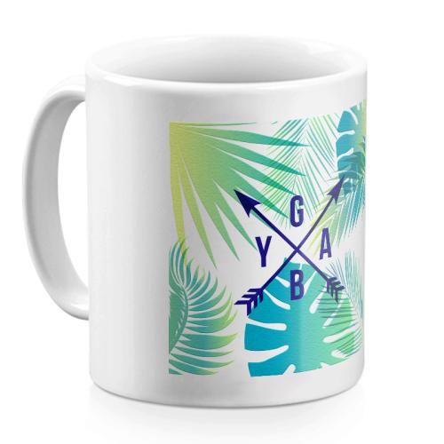 Mug personalizzato palme iniziali