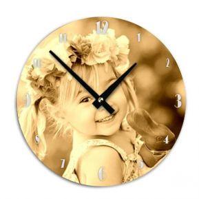 Orologio tondo da parete personalizzato foto