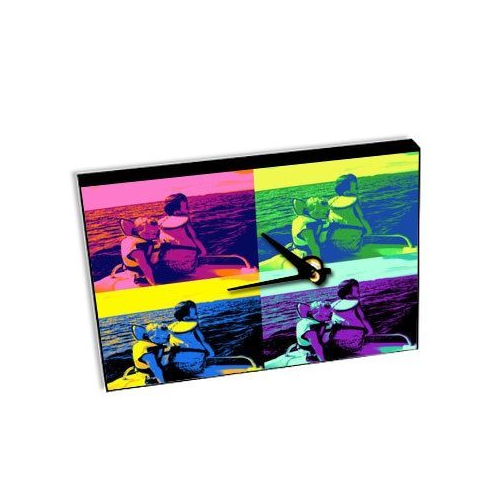 Horloge de table avec photo pop art