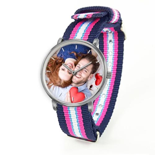 Orologio con cinturino colorato personalizzato