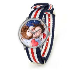 Orologio con cinturino a righe personalizzato