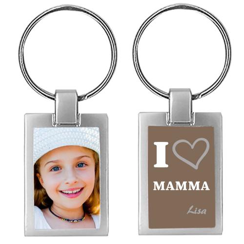 Portachiavi foto mamma personalizzato