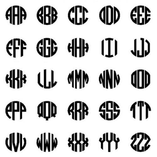 Esempi di ciondoli con iniziali moderne