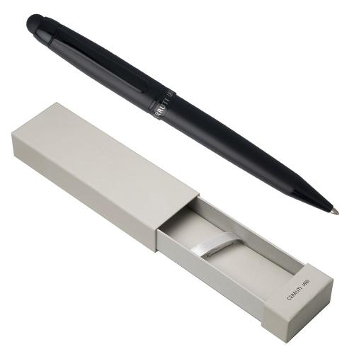 Scatola penna Cerruti Pad Matte nera personalizzata