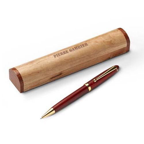 Penna a sfera in legno personalizzata