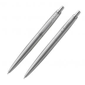 Penna a sfera Parker Jotter personalizzata color argento