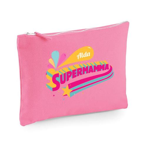 Pochette multiuso Supermamma nome