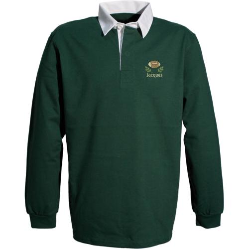 Polo rugby personalizzata verde