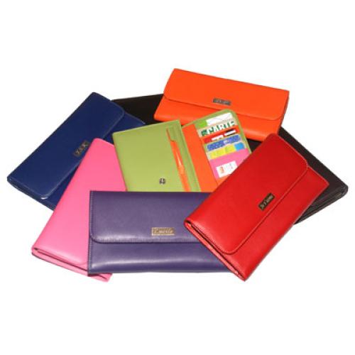 Porta assegni colorato