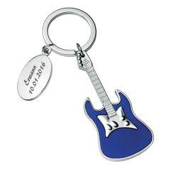 Portachiavi chitarra inciso