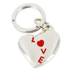 Portachiavi cuore love rosso
