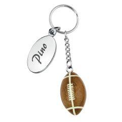 Portachiavi pallone da football inciso