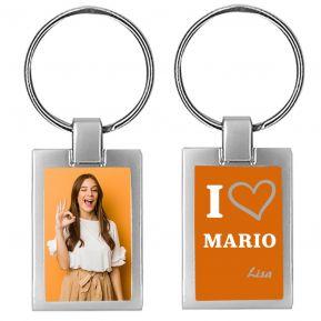 Portachiavi personalizzato foto I love