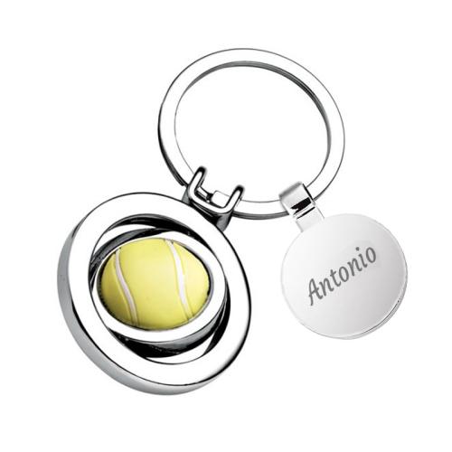 Portachiavi pallina da tennis personalizzabile