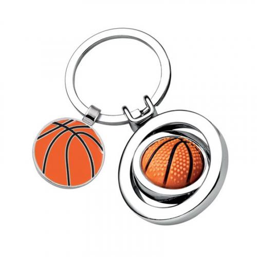 Portachiavi palla da basket inciso