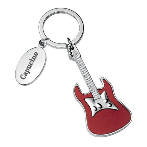 Portachiavi chitarra rosso