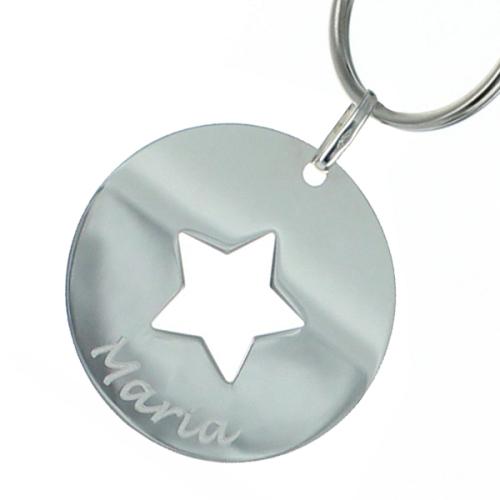 Portachiavi stella personalizzata