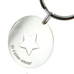 Portachiavi stella personalizzato