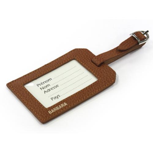Portaetichette per bagagli in pelle personalizzabile