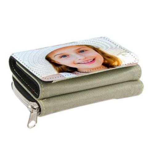 Portafogli personalizzabile foto beige
