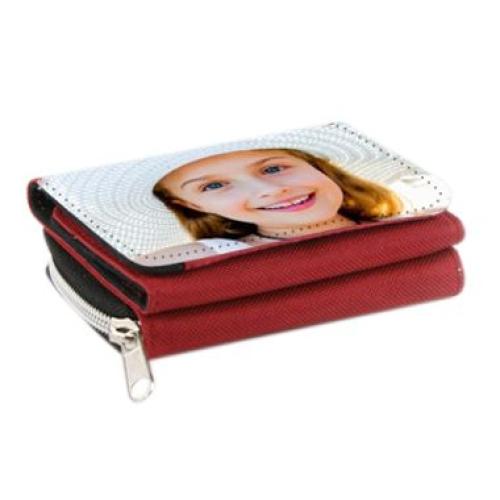 Portafogli personalizzabile foto rosso