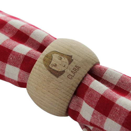 Portatovagliolo We are Family in legno