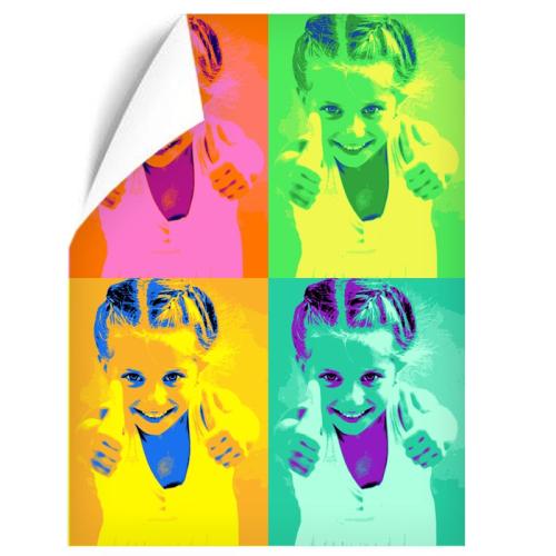 Poster pop art verticale 4 foto