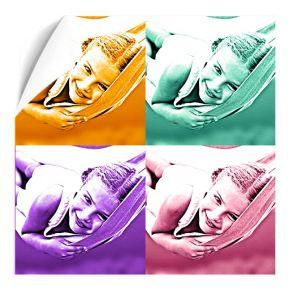 Poster monocromatico quadrato 4 foto