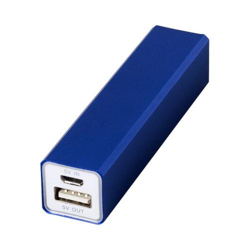 Power bank blu con incisione