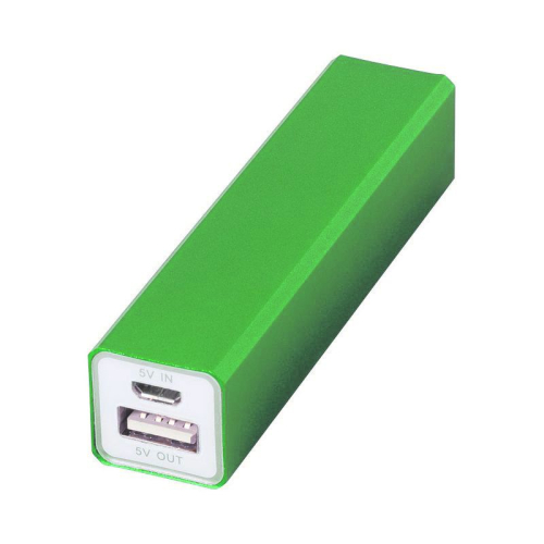 Power bank con incisione verde anice