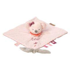 Doudou personalizzato topolina rosa