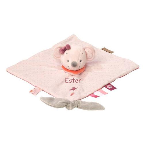Doudou topolina rosa ricamato