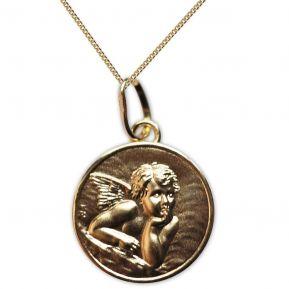 Ciondolo putto di Raffaello personalizzato placcato oro