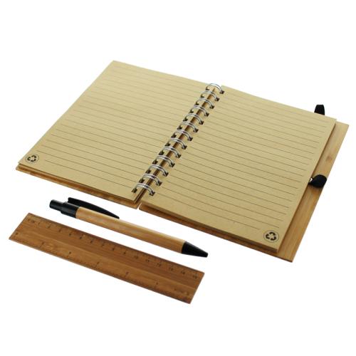 Quaderno di bambù con incisione