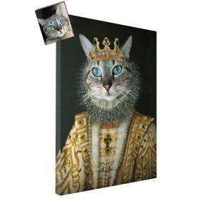 Ritratto gatto opera d'arte personalizzato