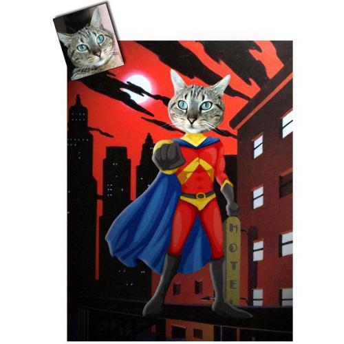 Ritratto gatto personalizzato divertente