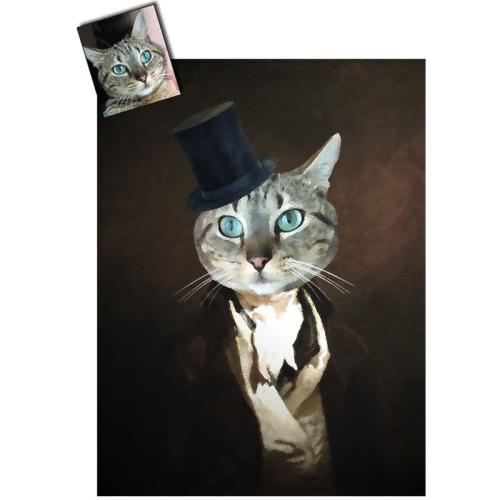 Ritratto gatto personalizzato