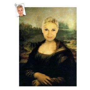 Ritratto donna opera d'arte personalizzato