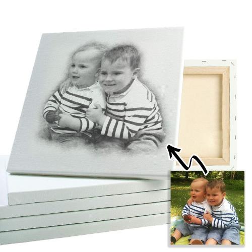 Fotomontaggio effetto disegno due foto