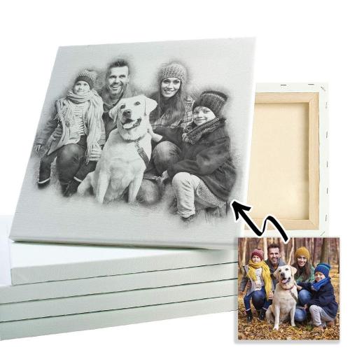 Ritratto di famiglia a matita