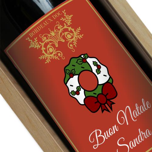 Bottiglia di vino di Natale personalizzata