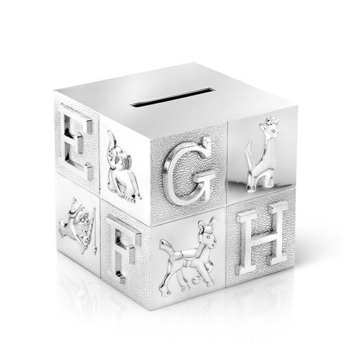 Salvadanaio cubo alfabeto personalizzato