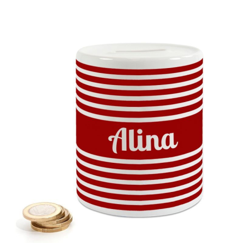 Salvadanaio in ceramica personalizzato marinière