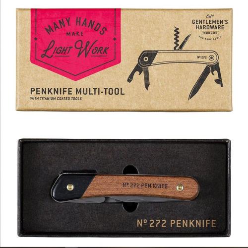 Coltello multifunzione Gentlemen's Hardware personalizzato scatola