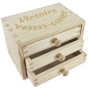 Portagioie con 3 cassetti personalizzabile