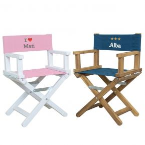 Sedia da regista babystar con decorazione e nome ricamati