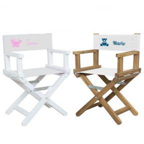 Sedia da regista babystar con decorazione e nome stampati
