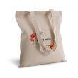 Borsa di tela shopper fiori acquerello