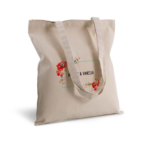 Shopper personalizzato fiori ad acquerello